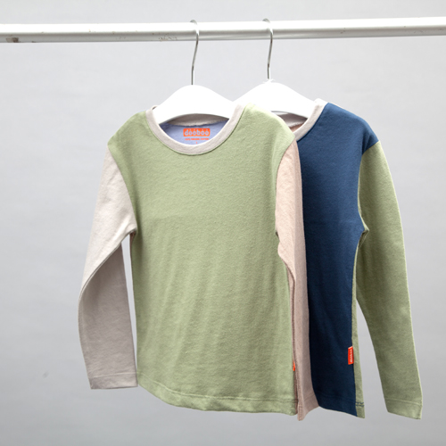 Long sleeve color block T2colors