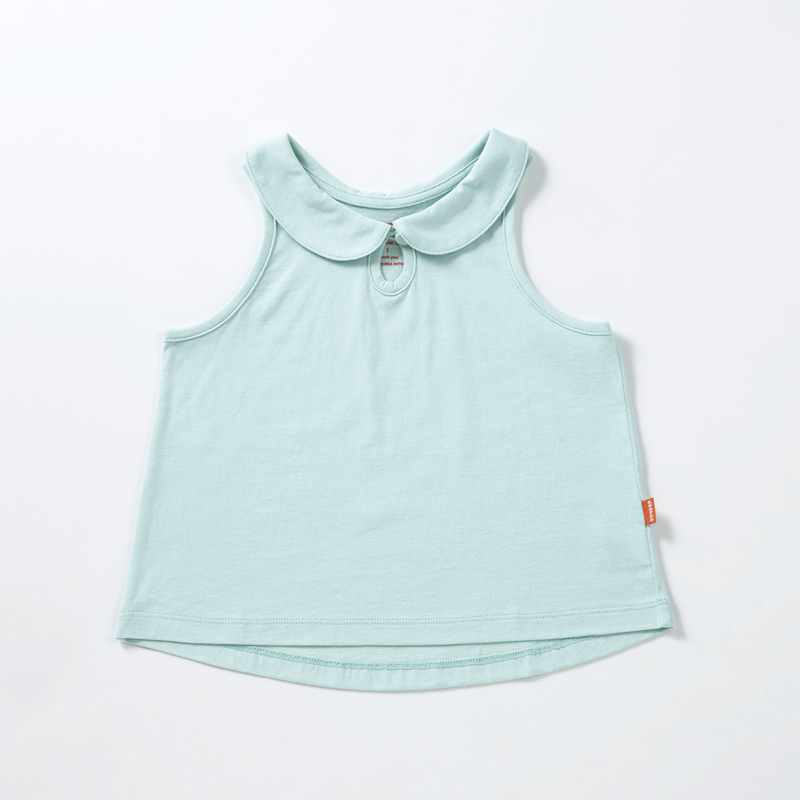 Collar Sleeveless Shirt